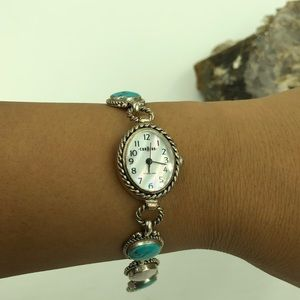 Jewelry - Carolyn Pollack 925 STER Turquoise/MOP Watch